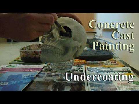 Concrete Cast Painting | Undercoat