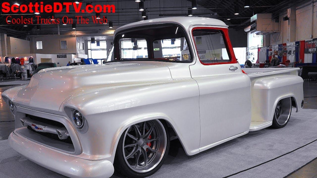 "1957 Chevrolet 3100 Pickup ""Snow White"" Street Truck The ..."