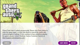 GTA V exited unexpectedly FIX | 2017