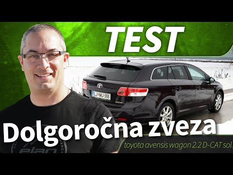 2010 toyota avensis wagon 2 2 d cat sol test youtube. Black Bedroom Furniture Sets. Home Design Ideas