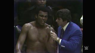 "Muhammad Ali wise cracks with ""Classy"" Freddie Blassie"