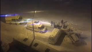 В Омске скорая попала в серьезное ДТП (кадры через минуту после аварии)