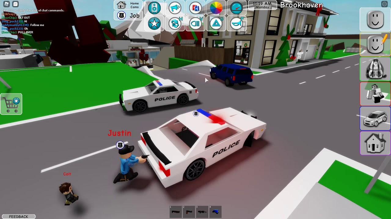 Police Chase Ended in A HUGE CRASH Brookhaven RP (Roblox) YouTube