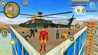 Iron Rope Hero: Vice Town City Crime Simulator - Android Gameplay