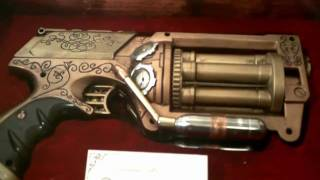 The Dreameater, Steampunk Gun W/ Display Case, Print, And Holster