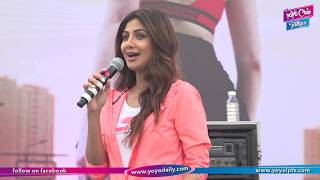 Shilpa Shetty Gives Fitness Tips At Mumbai   World Walking Day   Rahul Bose   YOYO Cine Talkies
