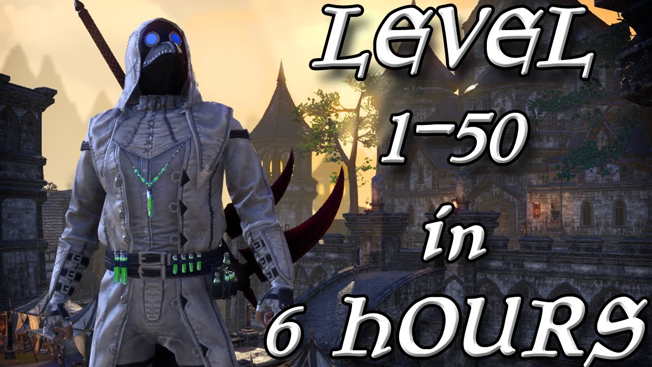 GRINDING LEVEL 1-50 IN 6 HOURS ON ESO! (Elder Scrolls Online Tips for PC,  PS4, and XB1)