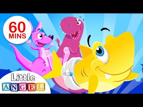 baby-shark,-baby-t-rex,-itsy-bitsy-spider,-and-more!-|-kids-songs-compilation