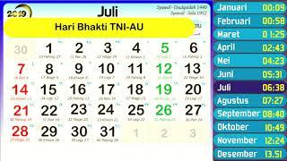Gambar cover Kalender 2019 Lengkap ( Masehi, Hijriyah, Jawa, dan Hari Hari Penting di Indonesia )