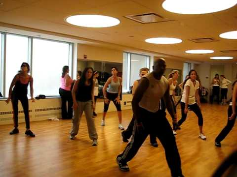 """Nathan Blake does lil """" belly dance"""" for Zumba class"""