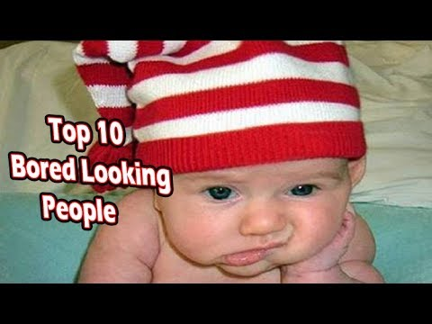 Top 10 People who dont want to be there (bored looking people) - 동영상