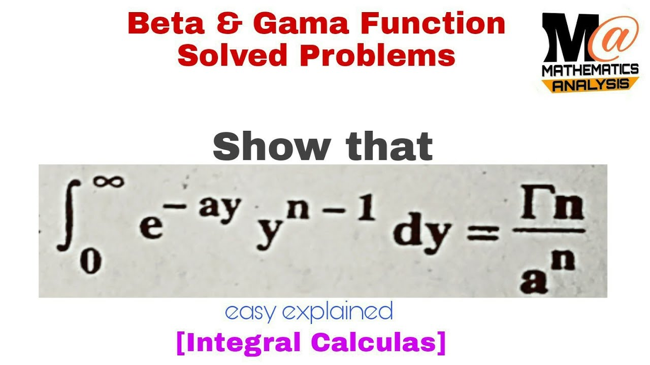 Solved Problems in Analysis As Applied to Gama