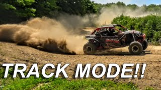 The CanAm Maverick X3 Turbo switches to TRACK MODE!