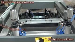 Flat-bed Screen Printer,flat Bed Screen Printing Machine,flat Bed Silk Screen Printer