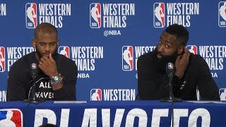 James Harden & Chris Paul Postgame Interview - Game 4 | Rockets vs Warriors | 2018 NBA West Finals