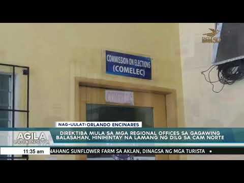 Direktiba mula sa mga Regional Offices sa gagawing balasahan, hinihintay na lamang ng DILG sa Camari