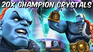 20x 5 Star The Champion & Venom The Duck Featured Crystal Opening! - Marvel Contest Of Champions