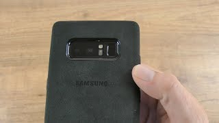 Official Samsung Galaxy Note 8 Alcantara Cover Case Review