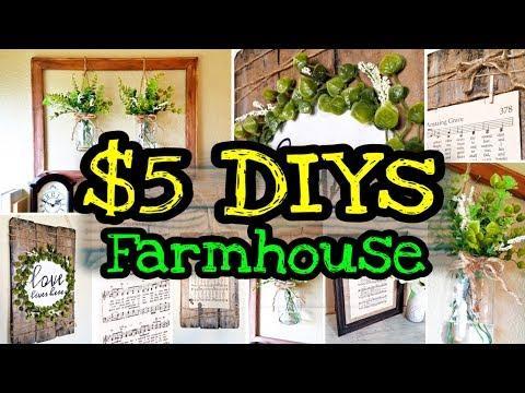 DIY Farmhouse Decor / Dollar Tree DIY Farmhouse Decor
