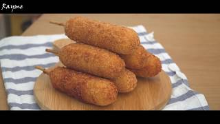 Сырный хот-дог Корейская уличная еда|Korean Street Food|  (rus/ sub)