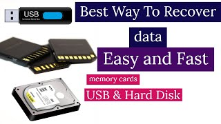 How to recover data from hard drive, memory card USB dead drive, external  drive after formatting