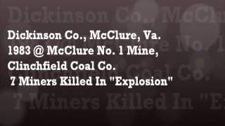 LOVE AND REMEMBRANCE  ~~ COAL MINERS.wmv Connie Helton