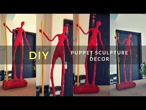 DIY Puppet Sculpture | paper doll decor