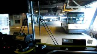 NJ Transit Bus is arriving to the Port Authority Bus Terminal