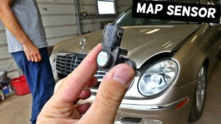 MERCEDES  P0106 MAP SENSOR REMOVAL REPLACEMENT