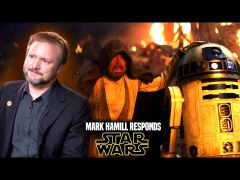 Star Wars! Mark Hamill Responds To New Trilogy By Rian Johnson (Star Wars News)