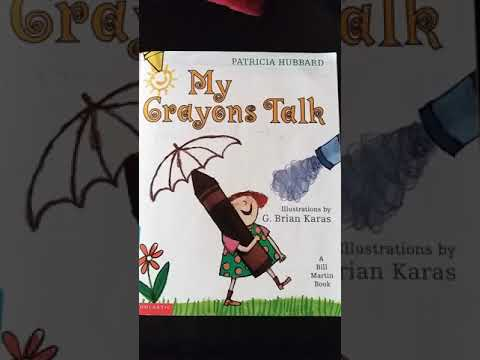 My Crayons Talk book read by Mrs. Wood