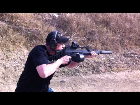 H&K G36 full auto with Beta Mag and  YHM Silencer