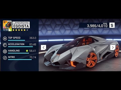 Asphalt9 Lamborghini Egoista Upgrading To 5 Stars Max Youtube