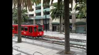 MTS San Diego Trolley - Blue, Orange, Green and Silver Lines (My 100th YouTube Video)