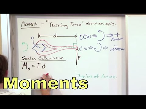 01 - Moment of a Force,  Scalar Calculation, Part 1 (Engineering Mechanics)