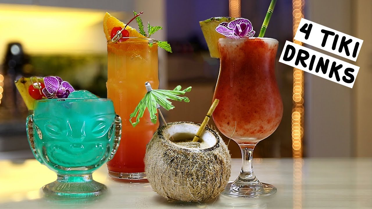 Four Tiki Drinks Youtube