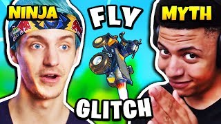 Myth Teaches Ninja FLYING GLITCH (Quad Exploit) | Fortnite Daily Funny Moments Ep.248