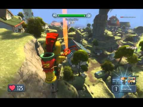 PvzGW - nice long double leap on driftwood 1st garden