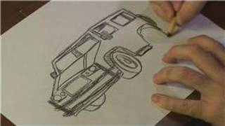 Drawing Vehicles : How to Draw a Hummer Step-by-Step