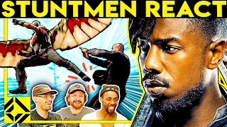 Stuntmen React To Bad & Great Hollywood Stunts 17