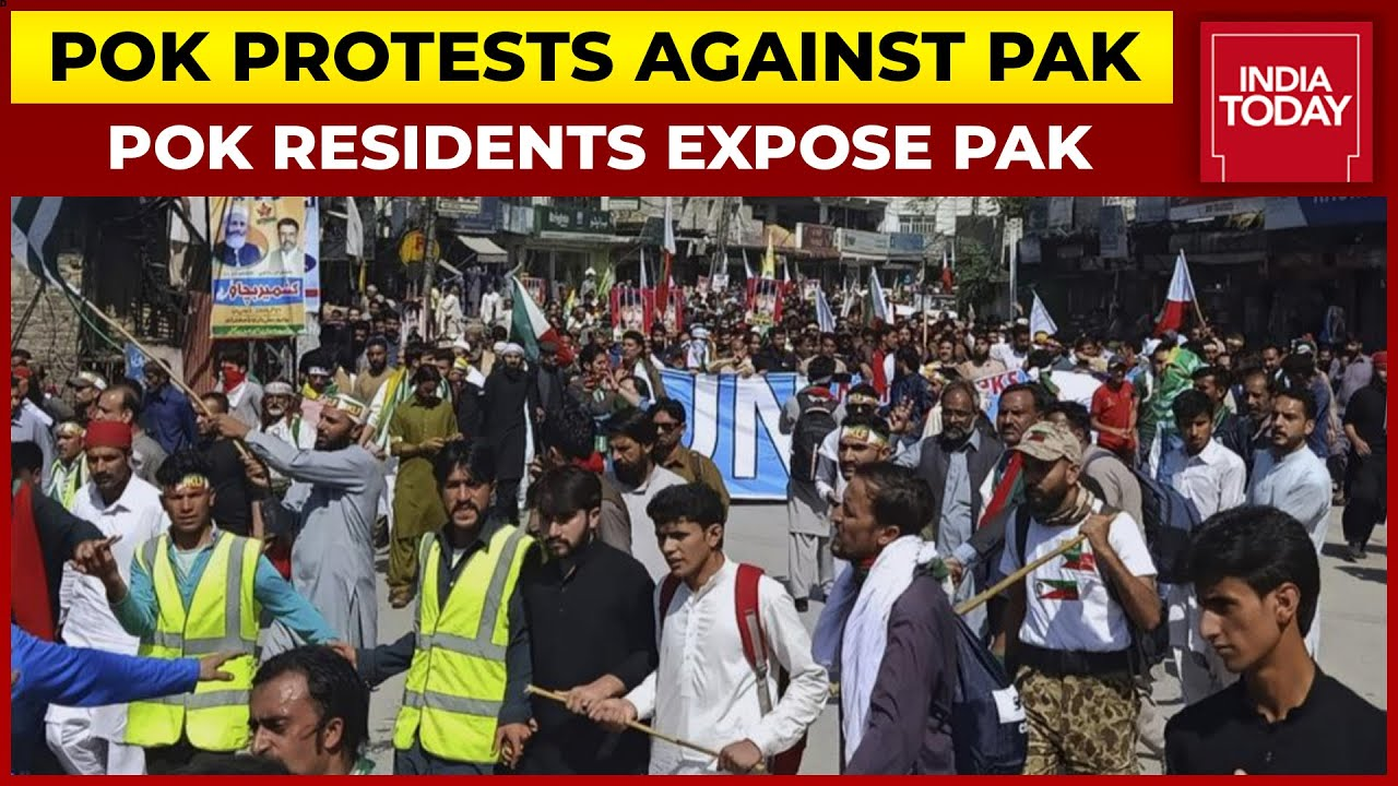 Download PoK Protests Against Pakistan   Protests Erupt In PoK, People Demand Independence From Pakistan