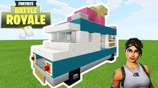"Minecraft: How To Make a Fortnite Ice Cream Truck ""Fortnite Tutorial"""