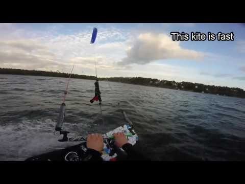 First kitesurfing session with the flysurfer speed5 9 sqm