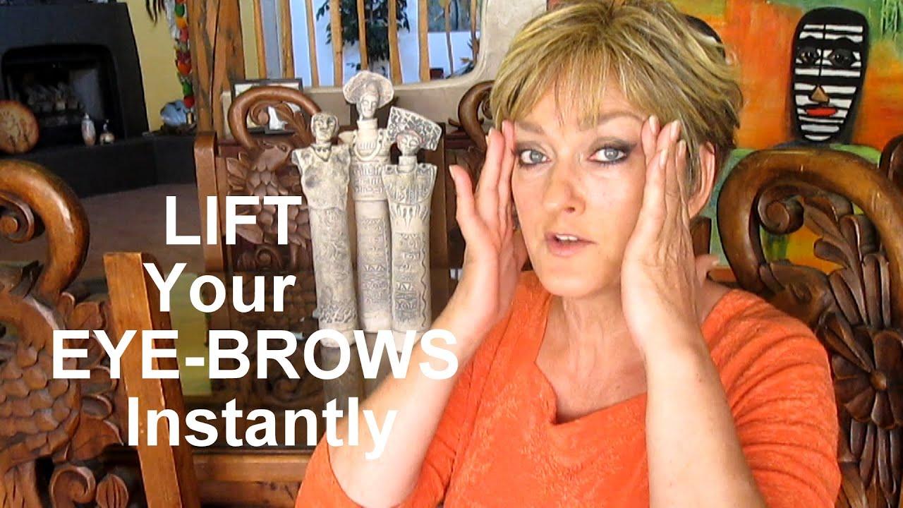 Instant Eyebrow Lift No Surgery Involved Youtube