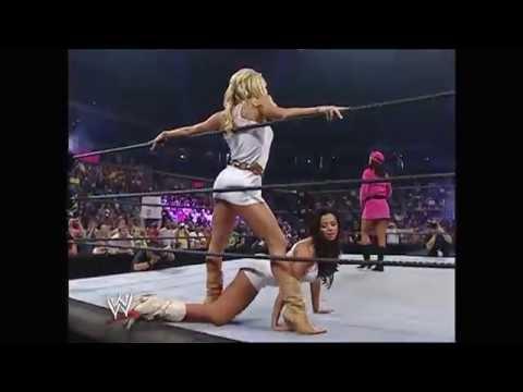 RAW 09.12.2005 Ashley, Candice Michelle, Torrie Wilson, Trish Stratus, Victoria segment (HD)