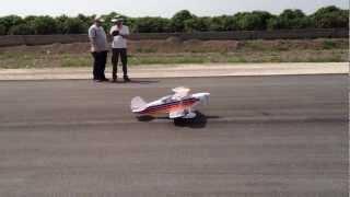Hangar9 Christen Eagle& DLE 20cc Maiden Flight