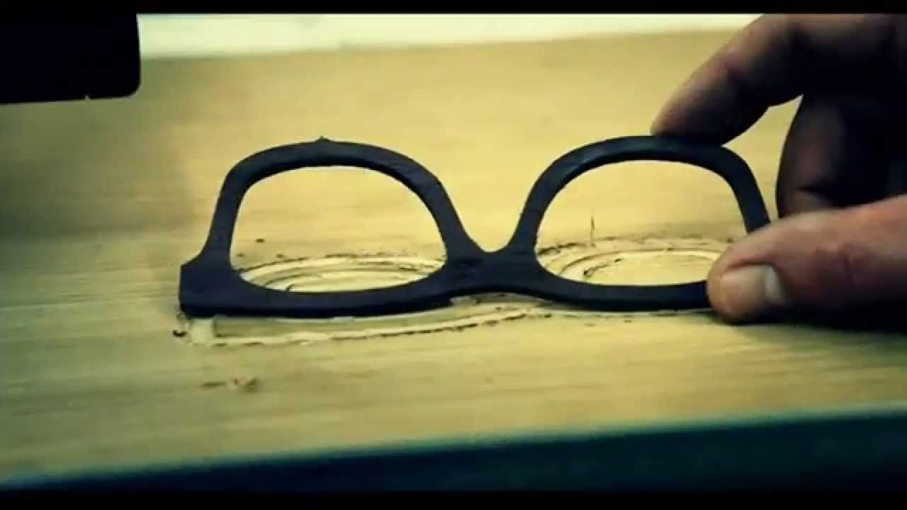 Milling a sun glass / sunglasses wooden frame - YouTube