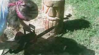 How To Make A Tiki Statue