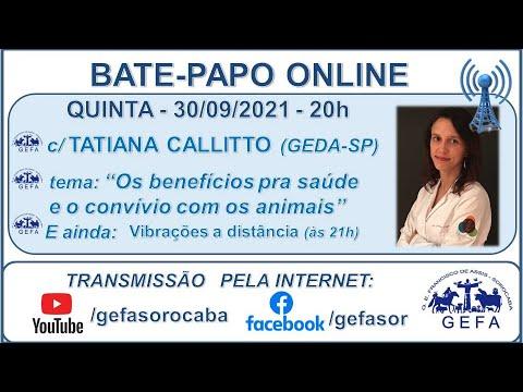 Assista: Palestra Online - c/ TATIANA CALLITTO (30/09/2021)