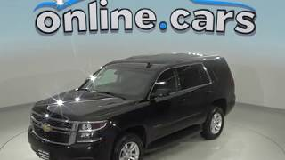 A99101TR Used 2018 Chevrolet Tahoe LT 4WD SUV Black Test Drive, Review, For Sale